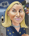 Cartoon: Ashton goes Mogherini comes (small) by Maria Hamrin tagged caricature,chief,leader,italy,rom,minister,eu,junker,tusk,ashton,putin,arafat,rompuy,barroso,russia,ukrain