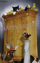 Cartoon: Easter Card. (small) by Maria Hamrin tagged easter,rooster,chicken,cat,rat,undulat