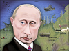Cartoon: Putin. (small) by Maria Hamrin tagged caricature,chief,leader,leningrad,moscow,kgb,yeltsin,medvedev,kerry,ashton,mogherini,ukraine,crimera,war,nuclear,map,bear