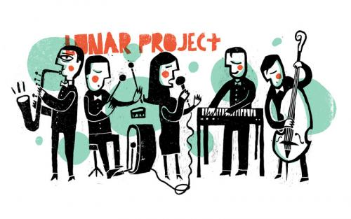 Cartoon: Lunar Project (medium) by chiprilox tagged music