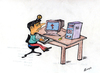 Cartoon: FIND SOLUTION (small) by tsumankumar tagged computer