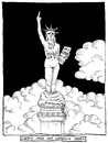 Cartoon: Feminist Liberty (small) by foreigneye tagged liberty,america,feminist,rape,culture