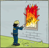 Cartoon: Grill (small) by Hannes tagged grill,feuerwehr