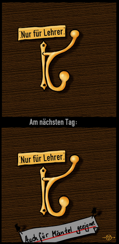 Cartoon: Lehrer (medium) by PuzzleVisions tagged puzzlevisions,jugendzeit,witz,youth,joke,schule,school,lehrer,teacher