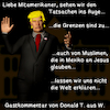 Cartoon: Gastkommentar Trump (small) by PuzzleVisions tagged puzzlevisions,trump,einreiseverbot,executive,order,travel,ban,muslime,muslims