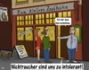 Cartoon: intolerant (small) by PuzzleVisions tagged bayern,bier,kneipe,nichtraucher,raucher,intolerant,bavaria,beer,nonsmoking,pub,smoking
