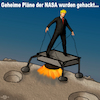 Cartoon: NASA Pläne gehackt (small) by PuzzleVisions tagged puzzlevisions,trump,donald,nasa,mond,moon,gehackt,pläne