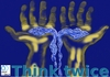 Cartoon: Save water 1 (small) by PuzzleVisions tagged water,ressource,wasser,sparen,lebensgrundlage,life,hands,hände,think,twice,denke,zweimal
