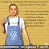 Cartoon: Winterkorn VW (small) by PuzzleVisions tagged puzzlevisions,vw,winterkorn,aufsichtsrat,untersuchung,informationsfluss,entlastung,koi,karpfen,boni,bonuszahlung,abgas,skandal