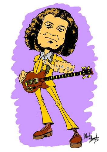 Noddy Holder-Slade By Marty Street | Famous People Cartoon ...