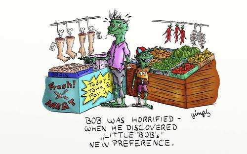 Cartoon: New preference! (medium) by gimpl tagged preference,zombie