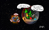 Cartoon: Too much... (small) by gimpl tagged alien,earth,explosion,science,fiction