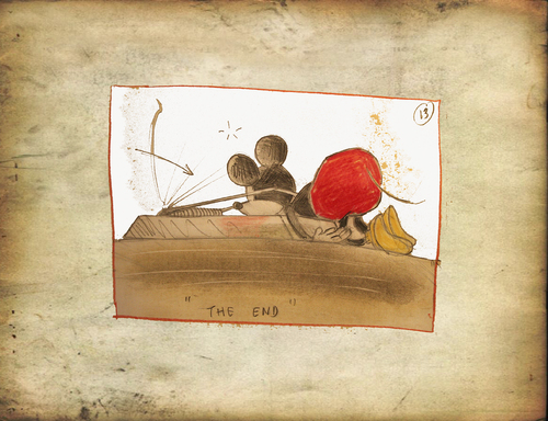Cartoon: Mickey (medium) by o-sekoer tagged cinema