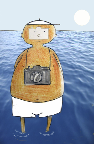 Cartoon: tourist (medium) by o-sekoer tagged sea