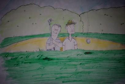 Cartoon: Guidom Golf (medium) by rocknoise tagged cartoon,humor,mrmatt,guido,golf