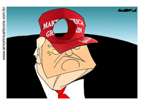 Cartoon: Cap (medium) by Amorim tagged trump,make,america,great,again