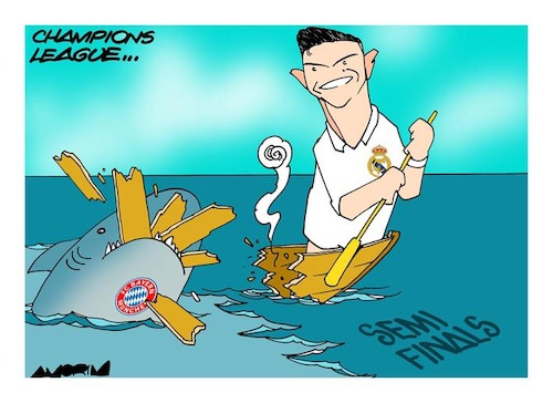 Cartoon: Champions League (medium) by Amorim tagged semi,finals