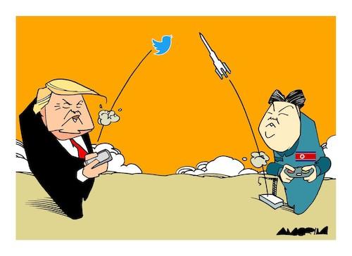 Cartoon: Trump x North Korea (medium) by Amorim tagged trump,north ...