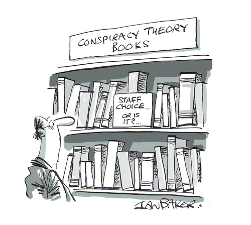 conspiracy theory books - or are they?