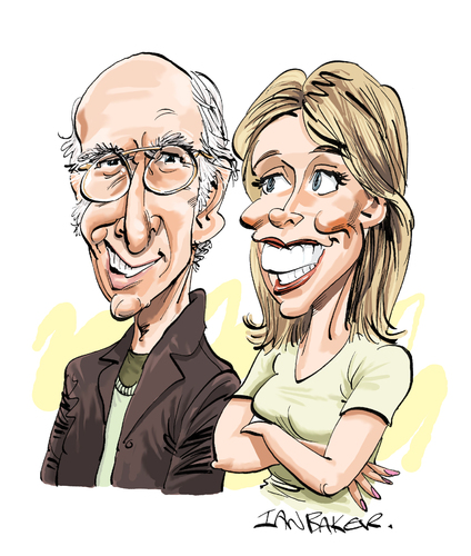 Cartoon: Curb Your Enthusiasm (medium) by Ian Baker tagged larry,david,cheryl,hines,seinfeld,comedy,caricature,curb,your,enthusiasm