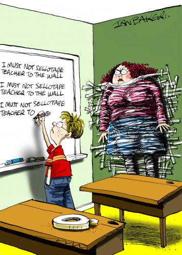 Cartoon: Greeting Card (medium) by Ian Baker tagged teacher,lines,school