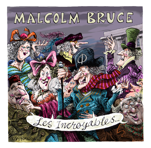 Cartoon: Malcolm Bruce CD cover artwork (medium) by Ian Baker tagged cd,compact,disc,ep,ian,baker,artwork,cartoon,malcolm,bruce,music,bass,guitar,tracks,jack,cream,les,incoribles