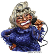 Cartoon: Celia Cruz (small) by Ian Baker tagged celia,cruz,salsa,singer,jazz,mambo,latin,tropical,tito,puente,vocalist,ian,baker,caricature,cartoon,illustration