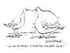 Cartoon: Fois Gras (small) by Ian Baker tagged fois,gras,food,delicacy,birds,bird,liver,geese,duck,fat,obese,gene,cruel,animal,cruelty,ian,baker,gag,cartoon,magazine