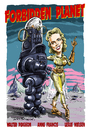 Cartoon: Forbidden Planet (small) by Ian Baker tagged forbidden,planet,anne,francis,walter,pidgeon,leslie,nielsen,space,sci,fi,50s,cinema,hollywood,robbie,robot