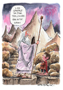 Cartoon: Gandalf (small) by Ian Baker tagged gandalf,hobbit,lord,of,the,rings,pink,white,middle,earth,film,exhibition