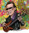 Cartoon: Jack Bruce (small) by Ian Baker tagged jack,bruce,cream,clapton,rock,jazz,music,bass,guitar,60s,psychadelic