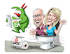 Cartoon: Just For Laughs Gags (small) by Ian Baker tagged just,for,laughs,marie,pierre,bouchard,denis,levasseur,gags,canada,montreal,comedy,festival,pranks,ian,baker,cartoon,caricature,cartoonist,tv,television,victor,logo