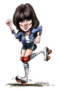 Cartoon: Linda Ronstadt (small) by Ian Baker tagged linda,ronstadt,music,sexy,seventies,eagles,roller,skates,rock,ballads,retro,ian,baker,caricature,cartoon,portrait