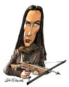 Cartoon: Melina Havelock (small) by Ian Baker tagged melina,havelock,carole,bouquet,james,bond,007,for,your,eyes,only,spy,film,caricature,crossbow