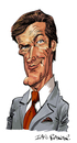 Cartoon: Roger Moore (small) by Ian Baker tagged 007,james,bond,roger,moore,caricature,spies,spy,film,movie,seventies