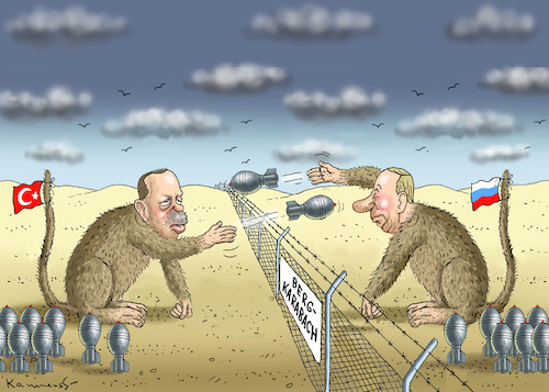 Affen Von Bergkarabach By Marian Kamensky Politics Cartoon Toonpool