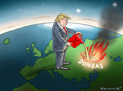Agent Orange Hilft Dombas By Marian Kamensky Politics Cartoon