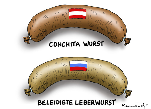 Cartoon: Beleidigte Leberwurst (medium) by marian kamensky tagged eurovision,song,contest,in,denmark,russia,putin,ukraine,eurovision,song,contest,in,denmark,russia,putin,ukraine