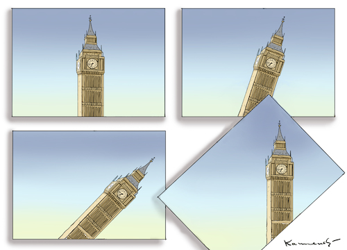 Cartoon: BREXIT BIG BANG BEN (medium) by marian kamensky tagged brexit,theresa,may,england,eu,schottland,weicher,wahlen,boris,johnson,nigel,farage,referendum,no,deal,brexit,theresa,may,england,eu,schottland,weicher,wahlen,boris,johnson,nigel,farage,referendum,no,deal