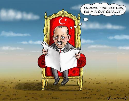 Der Gluckliche Erdogan By Marian Kamensky Politics Cartoon