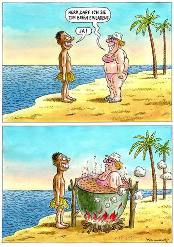 Cartoon: Einladung Zum Essen (medium) By Marian Kamensky Tagged  Sextourismus,dritte,