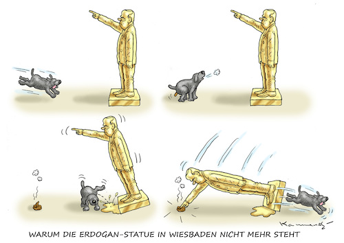 Cartoon: ERDOGANS GOLDENE STATUE (medium) by marian kamensky tagged trump,versus,erdogan,lira,türkei,sanktionen,erdogans,iphone,boykott,goldene,statue,trump,versus,erdogan,lira,türkei,sanktionen,erdogans,iphone,boykott,goldene,statue