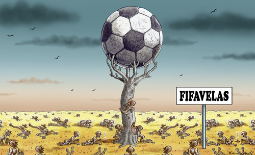 Cartoon: FIFAVELAS (medium) by marian kamensky tagged fussbal,wm,2014,brasilien,favelas,fussbal,wm,2014,brasilien,favelas