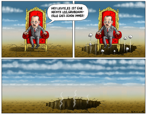 Cartoon: Grubenunglück Türkei (medium) by marian kamensky tagged soma,korruption,erdogan,türkei,bergwerkunglück,bergwerkunglück,türkei,erdogan,korruption