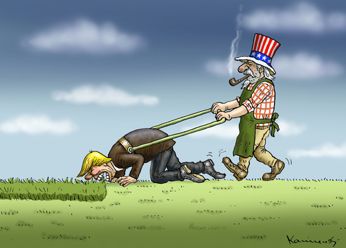 Trump frisur gras