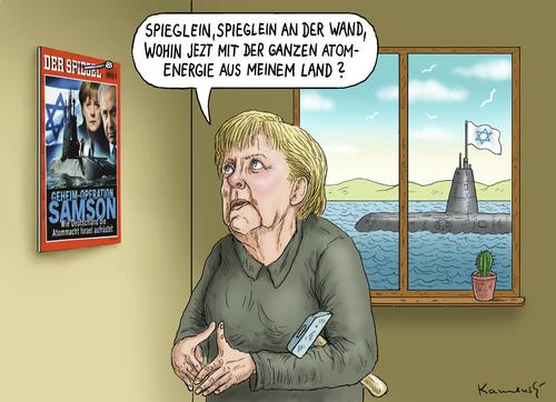 Merkel im spiegel by marian kamensky politics cartoon for Spiegel cartoon