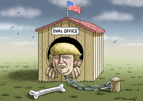 Cartoon: OVAL OFFICE (medium) by marian kamensky tagged mail,affair,clinton,trump,presidentenwahlen,usa,mail,affair,clinton,trump,presidentenwahlen,usa