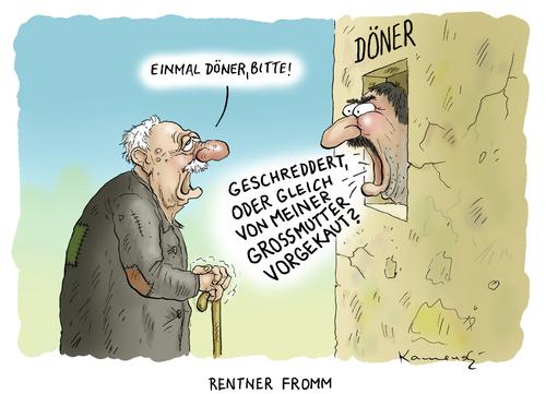 rentner fromm by marian kamensky politics cartoon toonpool. Black Bedroom Furniture Sets. Home Design Ideas