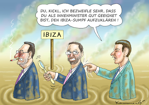 Cartoon: SAUBERMANN-UNSCHULDSKANZLER KURZ (medium) by marian kamensky tagged kkk,monarchie,babis,strache,kurz,orban,kopftuchverbot,populismus,kazsynski,ungarn,pressefreiheit,juncker,soros,kaczinski,ibiza,kkk,monarchie,babis,strache,kurz,orban,kopftuchverbot,populismus,kazsynski,ungarn,pressefreiheit,juncker,soros,kaczinski,ibiza