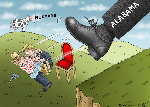 Cartoon: SWEET HOME ALABAMA WITHOUT MOORE (medium) by marian kamensky tagged obama,trump,präsidentenwahlen,usa,baba,vanga,republikaner,inauguration,demokraten,roy,moore,and,wikileaks,faschismus,obama,trump,präsidentenwahlen,usa,baba,vanga,republikaner,inauguration,demokraten,roy,moore,and,wikileaks,faschismus